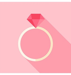 Ring with diamond vector