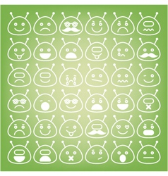 Emoticons space aliens different emotions icons vector