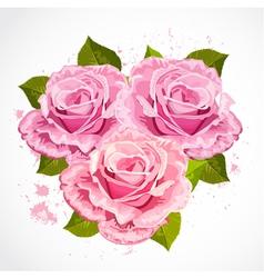 Rose grunge2 vector