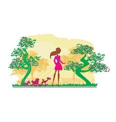 Cartoon female design vector