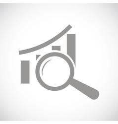 Graph scan black icon vector