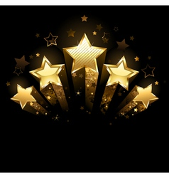 Five gold stars vector
