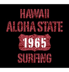 Aloha state surfing vector