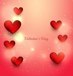 Attractive heart in gradient background vector