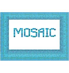 Mosaic frame landscape 2 380 vector