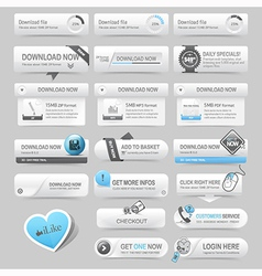 Web design template elements navigation buttons vector