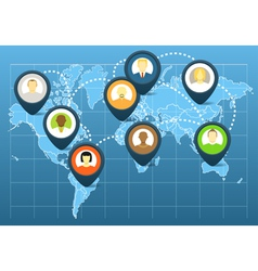 World social network scheme vector