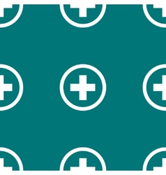 Plus web icon flat design seamless pattern vector