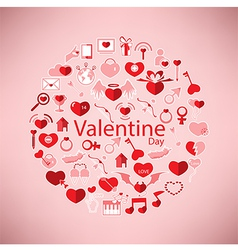 Template circle valentines day love icon vector