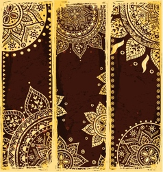 Set of ethnic bookmarks vector