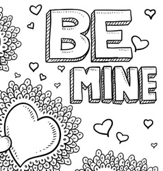 Be mine vector