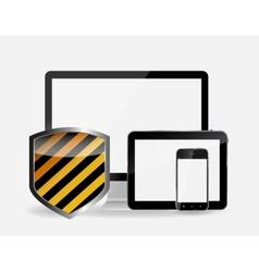 Internet security icon vector
