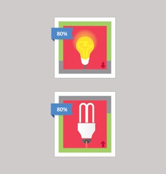 Bulb and cfl download vector