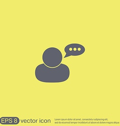 Character avatar dialogue vector