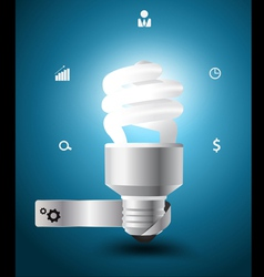 Light bulb idea concept with business icons vector