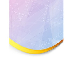 Folder with metal golden border vector