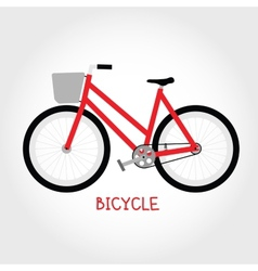 Cruiser bicycle isolated vector