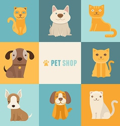 Pet shop logo design templates vector