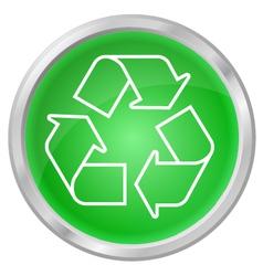 Recycling button vector