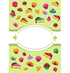 Sweet cover menu vector