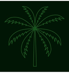 Silhouette of palm tree vector