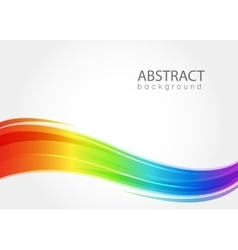 Abstract background with rainbow wave vector