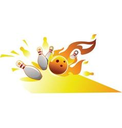Design element for bowling sport vector