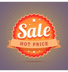 Hot price badge vector