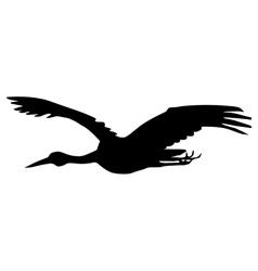 Flying crane vector