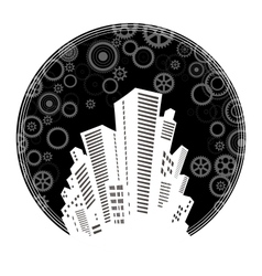 The citys skyline vector