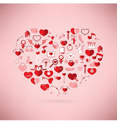 The heart valentines day love icon vector