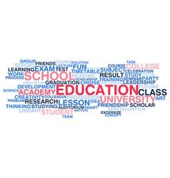 Education word cloud vector