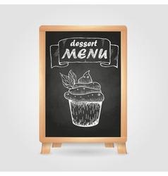 Chalk drawings retro typography cake vector