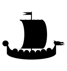 Drakkar icon vector
