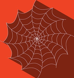 Abstract cobweb on red background vector