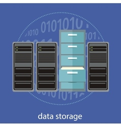 Data storage concept vector