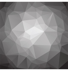 Abstract low poly black and white background vector