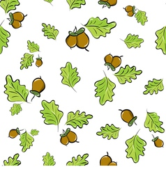 Oak leaves and acorns vector