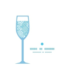 Abstract swirls wine glass silhouette pattern vector