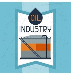 Oil storage tank background vector