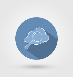 Cloud search icon vector