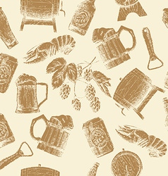 Sketch beer pattern vector