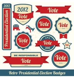 Retro vote stickers vector