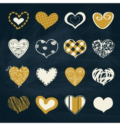 Artistic collection of hearts in assorted designs vector