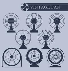 Vintage fan i part vector