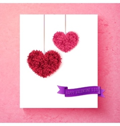 Loving valentine card design with hearts vector