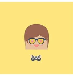 Cartoon doodle man rectangle play games vector