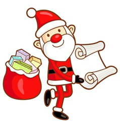 Santa claus mascot the event activity vector