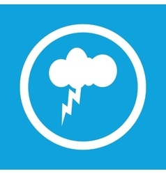 Thunderstorm sign icon vector