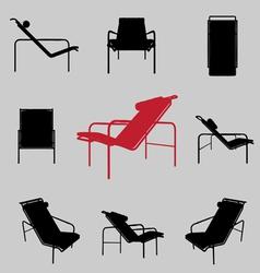 Modern armchair vector